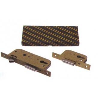 Κλειδαριά Ασφαλείας Συρόμενης YALE Και Πόμολο Με 2 Γάτζους 45 Κεντρο-Απλή Βαφή