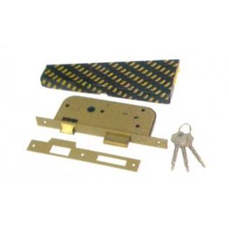 Κλειδαριά Υπερασφαλείας 2 Πύρρων YALE 573.45-Χρώμιο