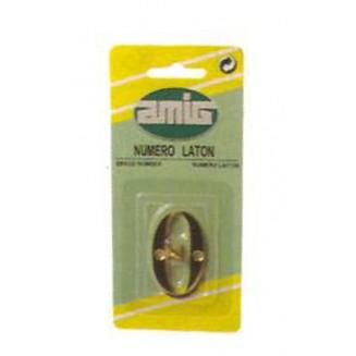Αριθμός 10 cm Μήκος Νο 2 AMIG Ορειχάλκινος-Χρυσός