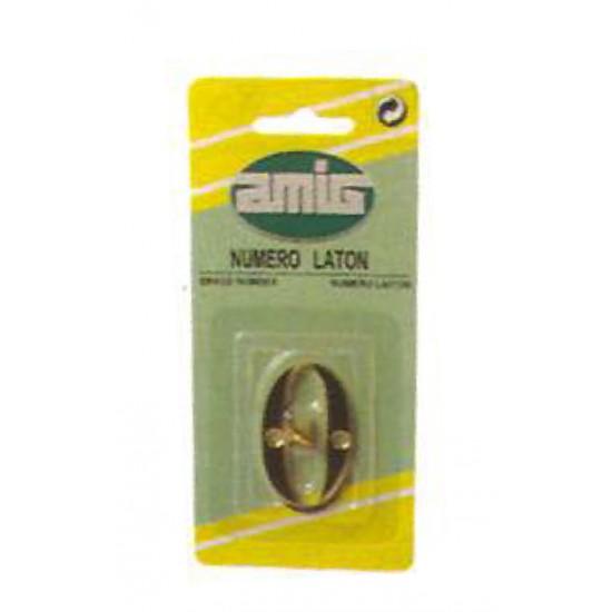 Αριθμός 10 cm Mήκος Νο 7 AMIG Ορειχάλκινος-Χρυσός