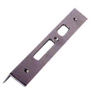 Αντίκρυσμα Κλειδαριάς Ασφαλείας 30cm Αριστερό Γωνιακό-Νίκελ Ματ