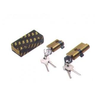 Κύλινδρος Αασφαλείας YALE 62άρης Στρογγυλός Με Γλώσσα (26+26)-Χρυσός